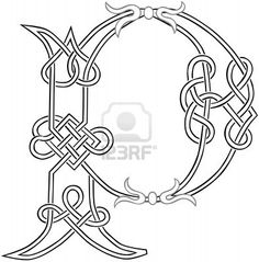 A Celtic Knot-work Capital Letter P