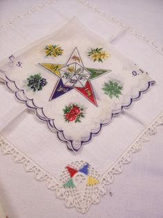 Order EASTERN Star Handkerchief Duo Vintage by @FabVintageEstates, $11.99