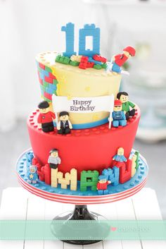 Wonky Lego cake by Bake-a-boo Cakes NZ, via Flickr