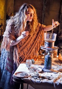 This reminds me of Luna Lovegood's mother -experimenting with potions