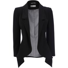 This timeless black jacket is a must in any wardrobe, the unstructured waterfall front will compliment any outfit from season to season. Team this with jeans a…