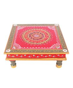 Take a look at this Coral Hand-Painted Bajot Low Table by Tadpoles on #zulily today!