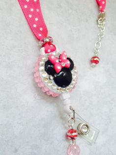 Minnie Mouse Hot Pink Retractable Badge Reel / by ForTheLovetlc, $18.00
