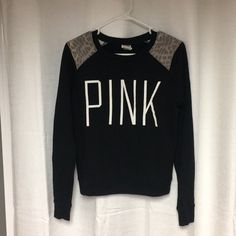 Shop Women's PINK Victoria's Secret Black size XS Crew & Scoop Necks at a discounted price at Poshmark. Description: Perfect condition. Cheetah shoulder cuffs.. Sold by raerosr. Fast delivery, full service customer support.