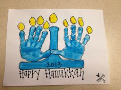 Hanukkah handprints
