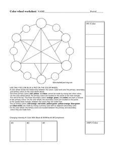complementary color practice worksheet worksheets color wheels and art lessons. Black Bedroom Furniture Sets. Home Design Ideas