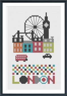 London Cross Stitch Chart Instant Download by barbra