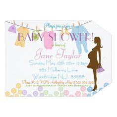 Purple silhouette baby shower address labels baby clothesline and silhouette baby shower 5x7 paper invitation card filmwisefo