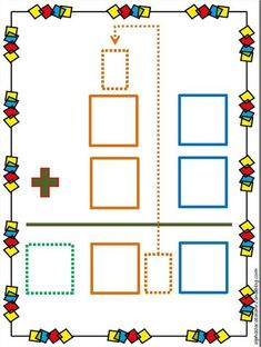 Technique opératoire de l'addition (avec retenue) - Les alphas de LaCatalane Math Lesson Plans, Math Lessons, Teaching Time, Teaching Math, Math Games, Math Activities, Math Charts, Daily Math, Math Groups