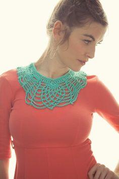DIY crochet necklace/collar