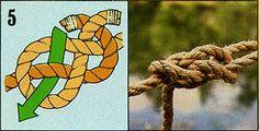 """ロープやヒモの端同士をつなげる結び方のひとつ。""""Carrick Bend"""""""