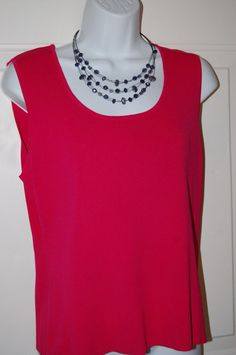 Chico's Shirt Womens Tank Top Red M 12/14 #Chicos #KnitTop #CareerCasual