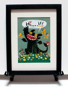 """Last day of bidding. :) grizandnorm: """" """"Hi….!!!"""" is my happy Toothless piece for the Children Hospital, and it's finally being auction on eBay for a limited time. It's an original gouache painting on paper with the final image of 5""""x7"""". I attached..."""
