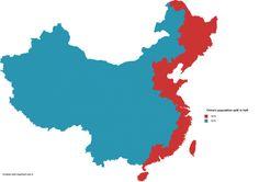- Chinas population split in half.