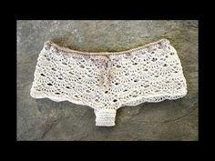 Aprende a tejer un short a crochet, con diseño elegante y femenino, para todas las tallas - YouTube