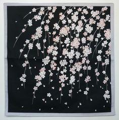 Beautiful Japanese wrapping cloth FUROSHIKI -Shidarezakura(Cherry blossoms) obi/tapestry