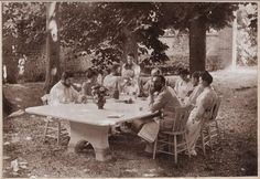 Misia Sert (a pianist *1872-1950)and friends: Her home on the Rue St. Florentine became a gathering place, a salon, for such cultural lights as Marcel Proust, Claude Monet, Pierre-August Renoir, Odilon Redon, Paul Signac, Claude Debussy, Stéphane Mallarmé, and André Gide. The entertainment was lavish. Henri de Toulouse-Lautrec enjoyed playing bartender at her parties and became known for serving a potent cocktail— a drink of colorful layered liqueurs dubbed the Pousse-Café.