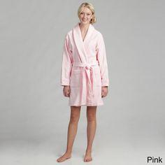 Women's Cotton Terrycloth Bath Robe   Overstock.com Shopping - The Best Deals on Bath Robes