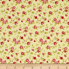 Moda Windermere Prints Songbird Clover from @fabricdotcom  Designed by Brenda Riddle for Moda, this cotton print is perfect for quilting, apparel, and home decor accents. Colors include shades of pink and green.