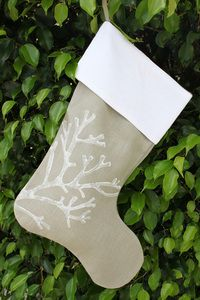 Isola Bella Coral Holiday Stocking