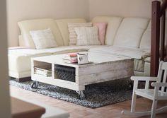 Nábytok - Drevený-masívny-paletový konferenčný stolík - 7107465_