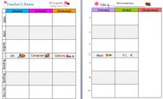 teacher lesson plan template free