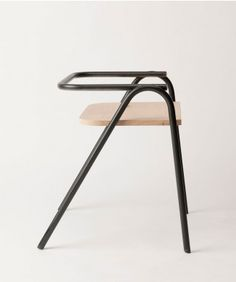 """leibal: """" Half Hurdle Chair is a minimalist design created by Melbourne-based designer Dowel Jones. The Half Hurdle chair was designed as a simple stackable chair for all occasions. Balcony Table And Chairs, Cafe Chairs, Diy Chair, Sofa Chair, Swivel Chair, New Furniture, Furniture Design, Minimalist Furniture, Stackable Chairs"""