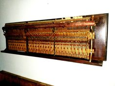 Repurposed upright piano wall art by onemanswoodwork on Etsy, $1275.00