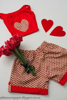 A heart outfit for Valentines Day ... and some more gorgeous fabric to play with!
