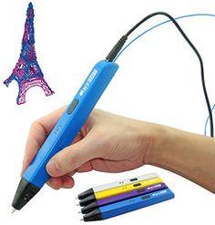 Drawing Intelligent 3D Pen Crafts Arts 3D Printing Pen 3D Drawing Pen for Kids and Adults Hobbies Black/&Blue Perfect 3D Doodling