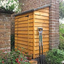 Outdoor Wall Store Larchlap Shed 4ft x 2ft Storage Garden Tools & Accessories