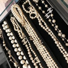 #Chanel  #pearls  Ropes of pearls!