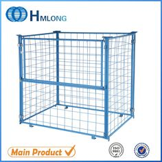 Supermarket stacking foldable storage cage universal