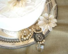 Silver Tray  Wedding Cake Plate  Shabby Chic by silverandbone, $30.00