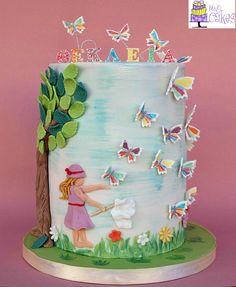 Tartas de cumpleaños - Birthday Cake - Chasing butterflies..