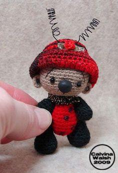 ༺༺༺♥Elles♥Heart♥Loves♥༺༺༺ ........♥Crochet Amigurumi♥........ #Amigurumi #Patterns #Crochet #Softies #Childrens #Toys #Handmade #Teddy #Doll #Tutorial #Patterns #Collectable~ ♥Beautiful Crochet By Calvina Walsh Ladybug