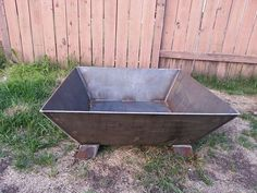 """Hand made fire pit Made from 3/16 steel Bottom plate is stitch welded to allow water to drain and ventilation. 36"""" x 36"""" wide 14"""" high 10"""" deep Bottom plate is"""