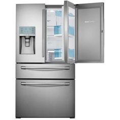 Samsung 29.5 cu. ft. Food Showcase 4-Door French Door Refrigerator in Stainless Steel RF30HBEDBSR at The Home Depot - Mobile