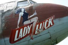 All sizes | Lady Luck (DC-3) Nose Art | Flickr - Photo Sharing!