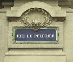La rue Le Peletier (Paris 9ème)