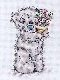 TattyTeddy - Pink Flower Pot 1 (Cross Stitcher)