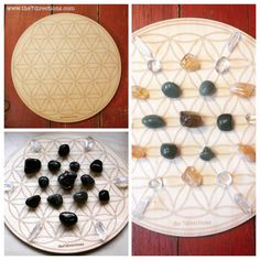 "Flower of life wood crystal grid. For me, this is one of the most powerful sacred geometry, it relates to everything from our cells on a molecular level to the nature, the mystery of us and the Creator.  The placement, vibrations, intentions set on the crystals help magnify and manifest your goals.  If you are interested in these 8"" grids, DM me. #crystalgirds #tucsongemshow #healingcrystal #loveandlight #meditation #yoga #crystals #sacredgeometry"