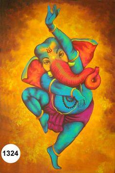 Dancing Ganesh ji, Fluorescent painting Glow in dark, UV Glow, 1324 Shri Ganesh, Ganesha Art, Ganesha Drawing, Ganesha Sketch, Ganesh Tattoo, Hanuman, Durga, Krishna, Spiritism