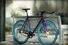 State Fixed gear purple #groovybike