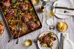 Sheet Pan Chicken With Broccoli, Chickpeas, and Parmesan recipe on Food52