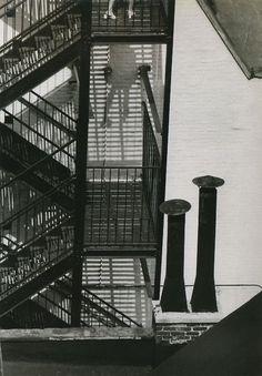 liquidnight:  André Kertész Fire Escape and Stacks, August 10, 1969 From André Kertész