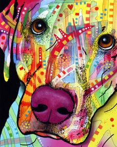 """And this one too.  I think I should dedicate an entire wall to his art. """"Close-Up Labrador"""" by Dean Russo."""