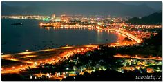 Nha Trang city, views from Co Tien mountain, reflects a gorgeous skyline that shine brighter in the night !