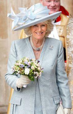 Duchess of Cornwall, May 10, 2015 in Philip Treacy | Royal Hats