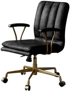 Desk Chairs Office Chair Retro Luxury Chair Home Computer Chair Backrest Swivel Chair American Boss Chair Leather Office Chair (Color : Black, Size : 645193cm) Luxury Office Chairs, Luxury Chairs, Guest Bedroom Home Office, Home Office Desks, Swivel Office Chair, Desk Chairs, Buy Desk, Black Luxury, Boss
